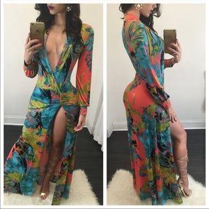 Dresses & Skirts - 24 Hour SALE Maxi High Slit Dress NWT